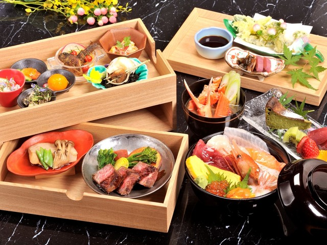 お部屋食プラン~お重箱・海鮮丼・てっぽう汁~