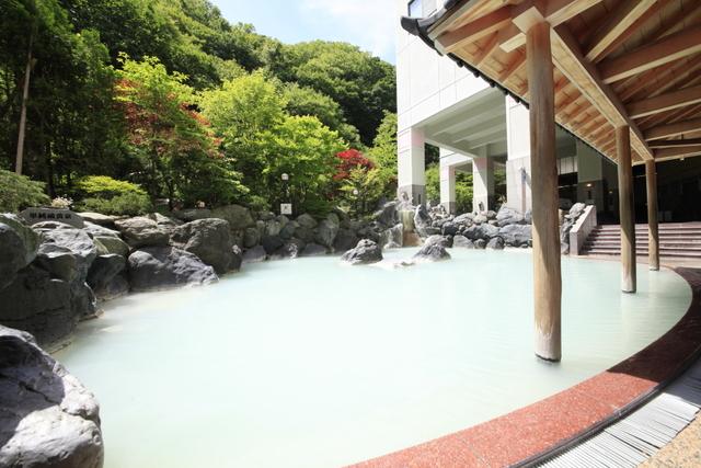 ずわい蟹も楽しめるバイキング ~まほろばの温泉も楽しめる湯めぐり付~