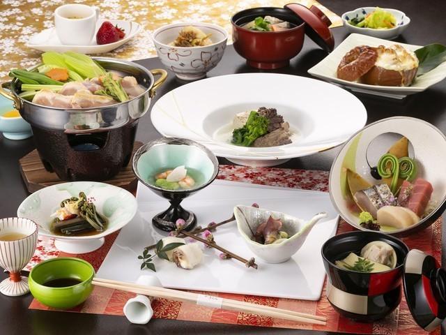 【うらら会席膳】2021年春のお料理一例 ※内容は一部変更となる場合がございます。