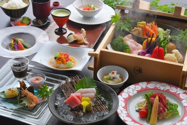 【夏得プラン】おひとり様最大2000円割引!和の旬野菜会席と2種の温泉で寛ぐ風青し夏のひととき
