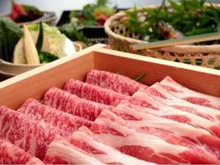 【旅館棟夕食/春の特別会席】上州牛&赤城豚の旨みをシンプルにせいろ蒸しで※イメージ