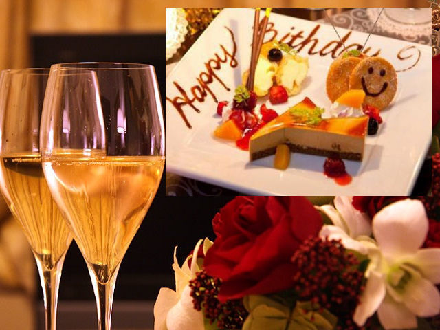 ふたりの、みんなの記念日をケーキでお祝い♪ 嬉しい5つの特典と選べるディナー♪(イメージ)
