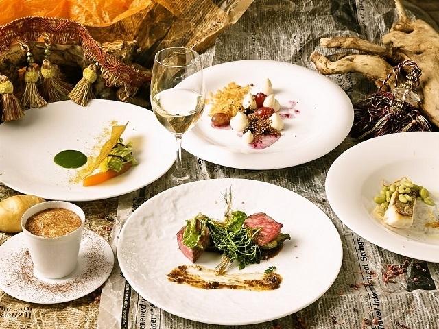 レストラン ラ・ベリエール、地物と旬の食材の創作フレンチコース『一つ星 季節のメニュー』