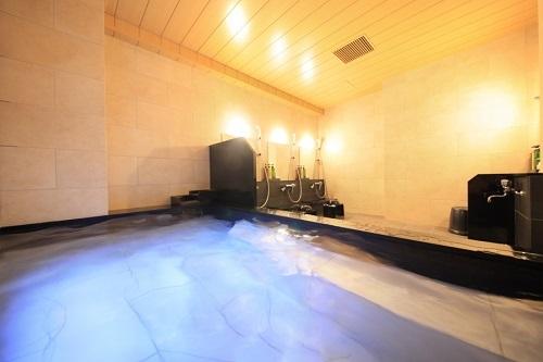 『禅(しずか)の湯』 ゆっくりと手足を伸ばしてくつろげる大浴場です。癒しの時間をお過ごし下さいませ。