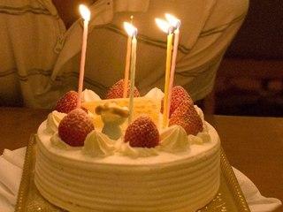 二人の記念日をケーキでお祝い♪