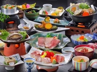 鮑お料理付き和食会席(イメージ)