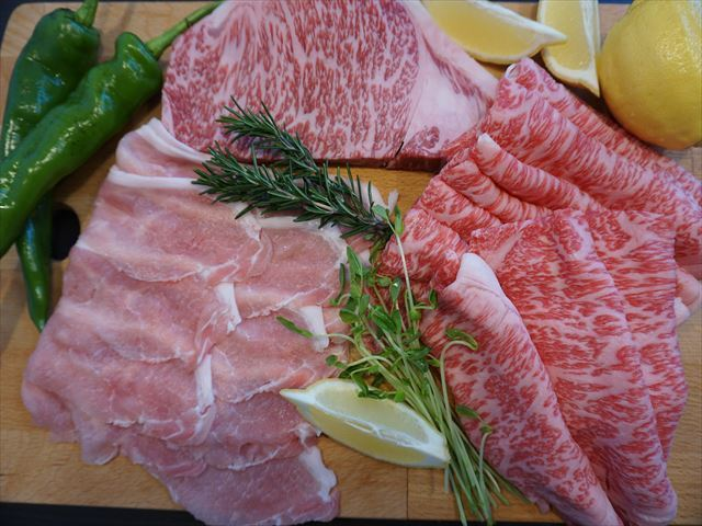 BBQ用・お鍋用に千葉県産の和牛・豚肉