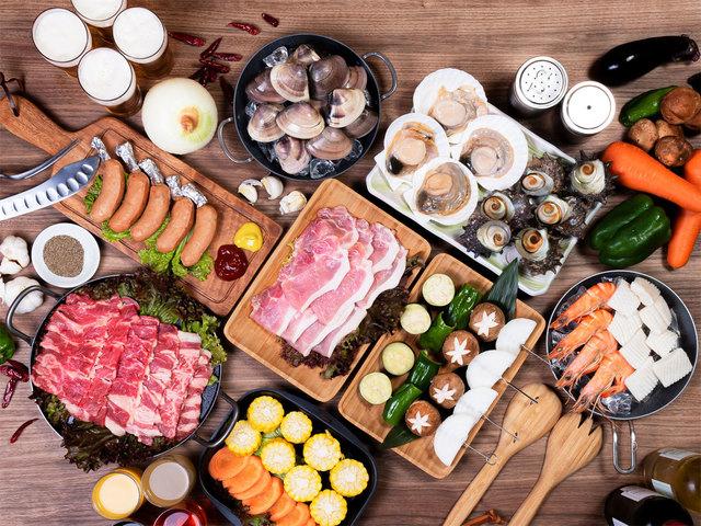 【BBQプラン】お食事一例 新鮮な海の幸やお肉をどうぞ!