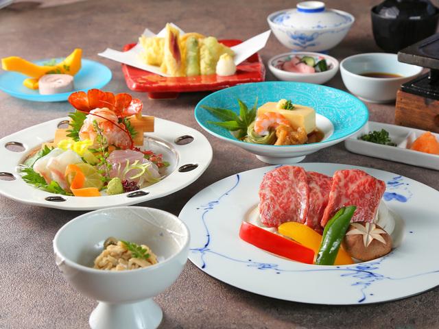 【夕食】≪千葉の三大逸品素材≫特撰牛肉「かずさ和牛」と「伊勢海老」にサザエのつぼ焼きプラン