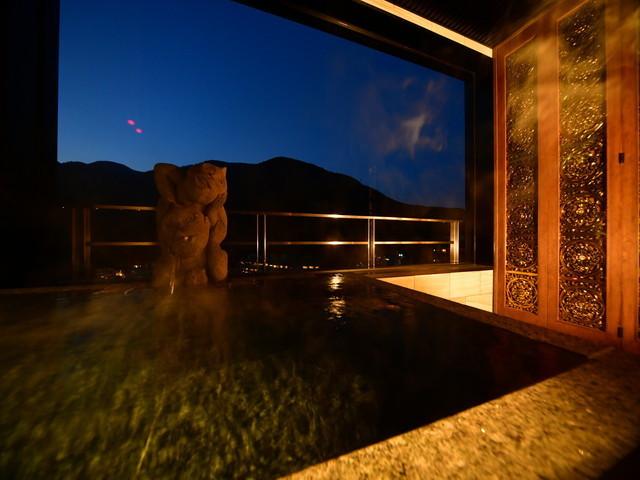 お部屋にある専用客室露天風呂