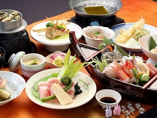 【海の幸】お魚大好き!!能登舟盛会席膳♪