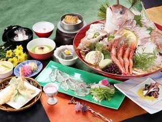 【春味覚SP】活鯛姿造り&炙り鯛しゃぶしゃぶ会席膳♪