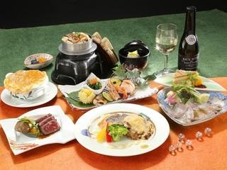 【秋味覚P】西海サーモンと牛ロースステーキの和洋会席膳♪
