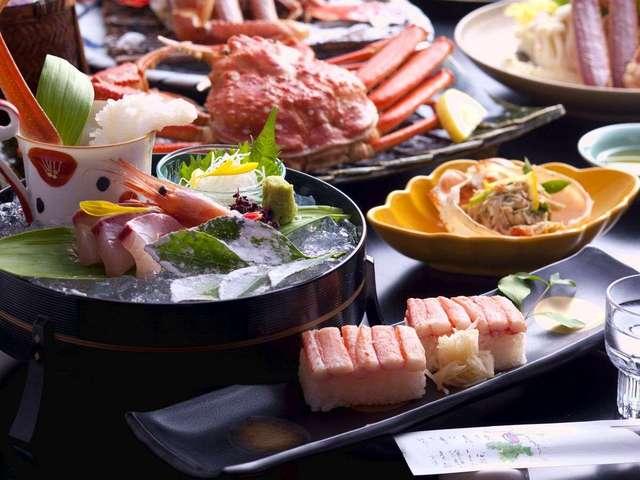 【9種の味わい・蟹フルコース】ズワイ蟹2,5杯!カニ会席を極めるならコレ◆心とろける蟹旅へ/ダイニング食