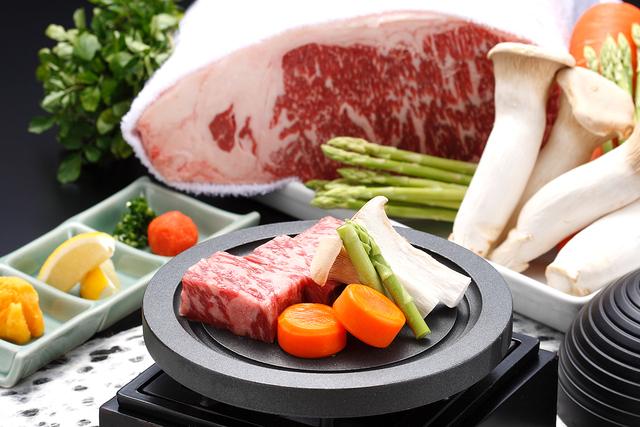 【ご夕食】和牛陶板焼付懐石(食材イメージ)