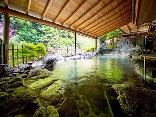 地元、白鳳石の露天風呂 「白鳳の湯」