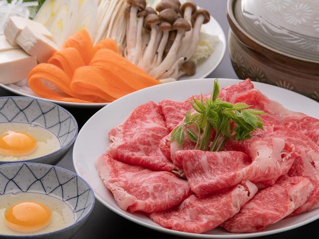 信州牛のすき焼き(イメージ)