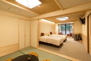 木曽ひのき製露天風呂付和洋室307号室