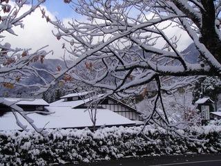 雪化粧した冬の外観