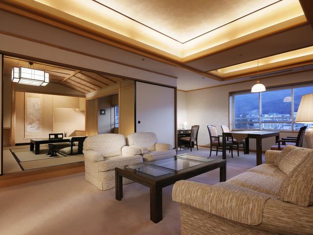 【臨川閣 貴賓室『蓬莱の間』】天皇陛下や著名な方々にご宿泊いただいた贅沢な空間