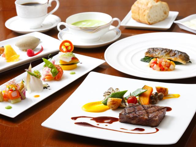 【欧風レストラン「バーデンバーデン」】飛騨食材たっぷりの彩り豊かなフレンチコース(一例)
