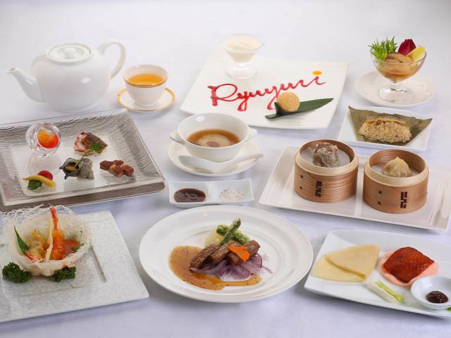 【チャイナルーム「龍遊里」】飛騨の食材をたっぷり使用したディナーコース(一例)