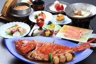 金目鯛煮付けプラン料理コース(イメージ) ※金目鯛は4名様用の大きさです 9月からは1人1尾となります
