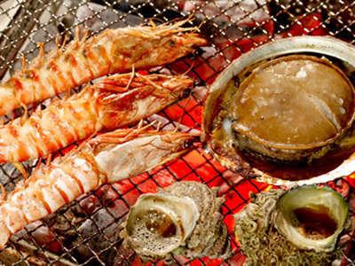 【磯づくし】『海鮮あみ焼き』鮑・カマス・サザエ・エビなどご自身で!写真はイメージです