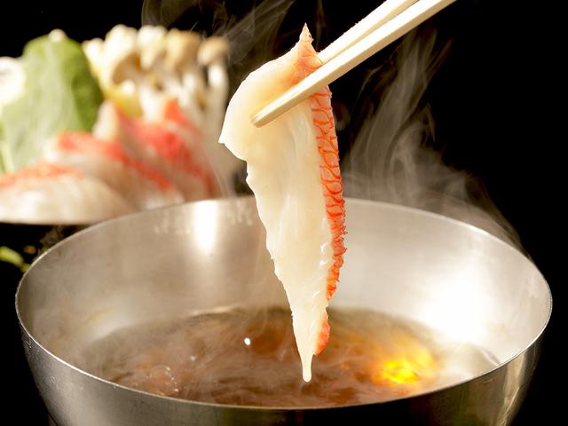 金目鯛のしゃぶしゃぶ(夕食一例)