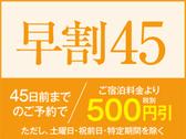 45日以上前にご予約いただくと500円割引!