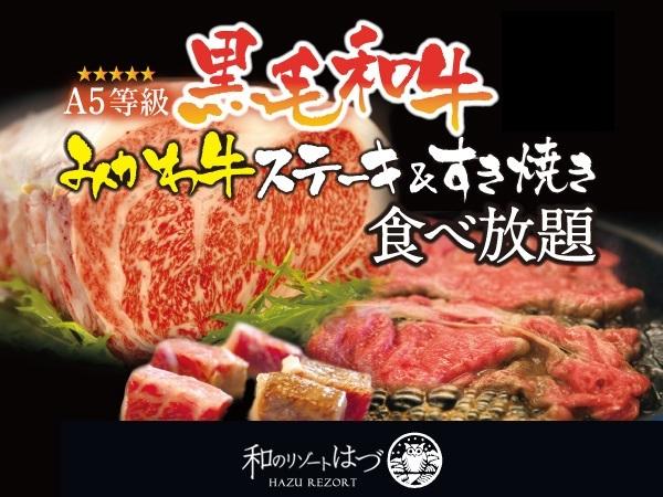 もう笑いが止まらない!A5みかわ牛 食べ放題プラン★1日6組限定のニッコリ価格(^O^)