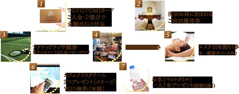 6つの特典