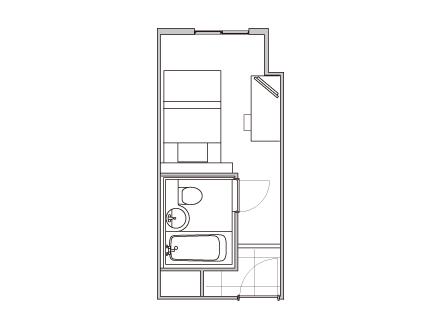 [平面図]シティサイド シングルルーム
