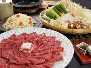 花かんざし名物国産牛すき焼きプラン~たっぷりお肉とお野菜の京風すき焼き~