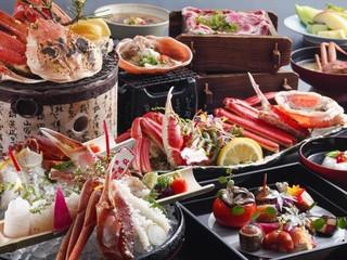 【活蟹会席】 冬の味覚「活ずわい蟹」と鳥取和牛が味わえる贅沢会席!