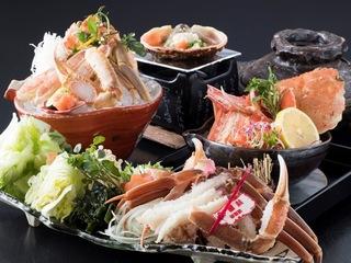 ●冬季限定●【かに三昧】「活蟹のしゃぶ鍋」付!かに4品の蟹会席~