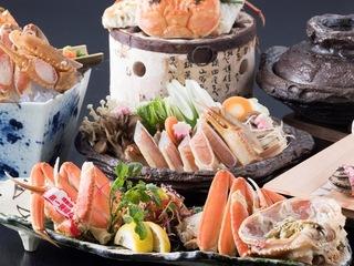 ●冬季限定●【特選かにづくし会席】「茹で活蟹」付!蟹料理5品のボリューム満点!親蟹汁付♪