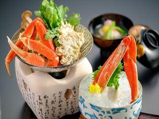 【蟹会席】温泉入ってゆったり蟹食す♪まるごと冷凍蟹2杯!
