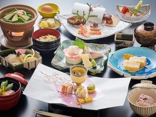 お食事|地元の食材を生かした料理長おすすめの和食会席※イメージ