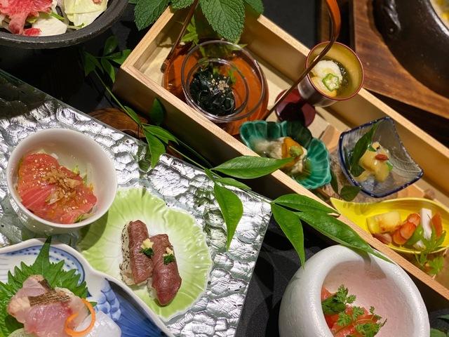 九州の素材をふんだんに活かしたご夕食