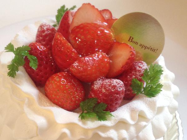 【ケーキ】別注:生クリームケーキ(12㎝)その他サイズ承ります。