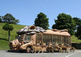 九州自然動物園「アフリカンサファリ」ライオンさんジャングルバス
