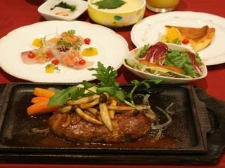【ホテルディナー】宮崎和牛ハンバーグ(200g)セット++2食付++