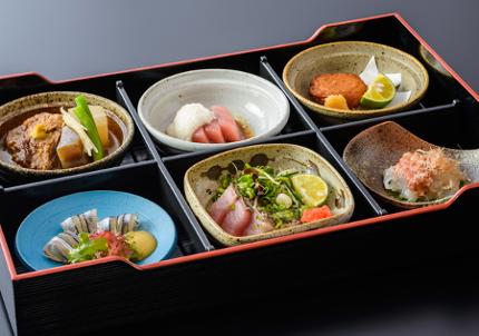 【旬の食材を楽しむ】<br>季節の和食会席プラン<薩摩六種盛りコース>