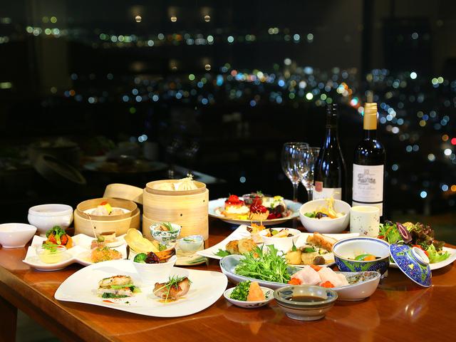 旬の味や沖縄料理など品数豊富に取り揃えた和洋中のディナーブッフェ♪