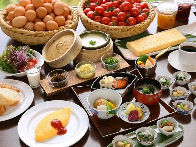 和洋の朝食ブッフェ♪